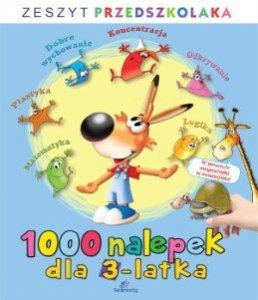 1000 nalepek dla 3-latka zeszyt przedszkolaka