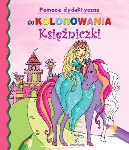 Księżniczki pomoce dydaktyczne do kolorowania