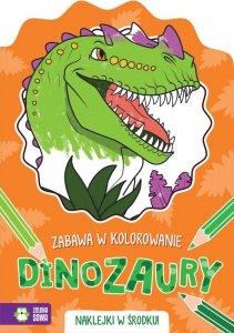 Dinozaury. Zabawa w kolorowanie