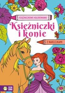 Księżniczki i konie. Księżniczkowe kolorowanki
