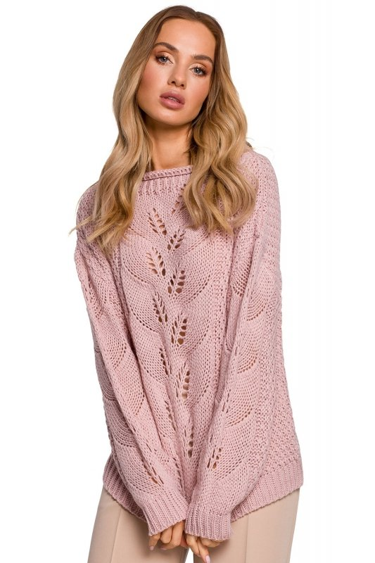Sweter Damski Model MOE600 Powder Pink - Moe