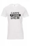 Koszulka biała - znakowanie - CARPE F CKING DIEM