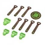 Coocazoo Zestaw Elementów Wymiennych Leather, Irish Green Melange
