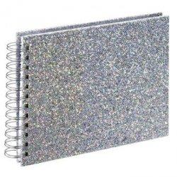 Album spiralny glam, 24x17 cm, 50 biaŁych stron, srebrny