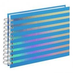 Album spiralny flashy, 24 x 17 cm, 50 białych stron, niebieski