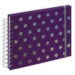 Album spiralny twinkle, 24x17 cm, 50 białych stron, purpurowy