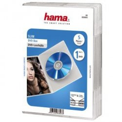 Hama DVD SLIM BOX PRZEZROCZYSTE.5P. 838930000