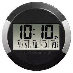 Hama zegar elektroniczny scienny dcf pp-245 czarny