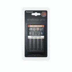 Ładowarka Eneloop Panasonic Smart & Quick - K-KJ55HCD 40E czarna + 4 akumulatorki r6 aa Eneloop pro