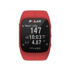 M400 hr czerwony zegarek sportowy + pas tętna