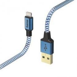 Kabel ładujący/data Reflected - odblaskowy lightning, 1.5m, niebieski