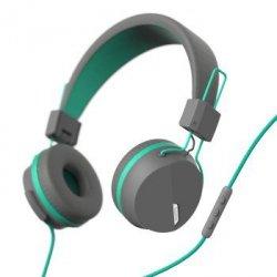 On-ear-stereo-headset next, grau/turkis