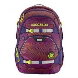 Plecak szkolny e-ScaleRale Soniclights Purple, System MatchPatch - Coocazoo
