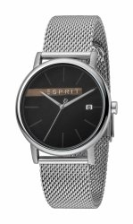 Męski zegarek Esprit ES Timber czarny srebrny Mesh ES1G047M0055