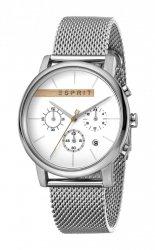 Męski zegarek Esprit ES Vision srebrny Mesh ES1G040M0035