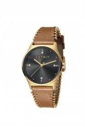 Damski zegarek Esprit ES Drops 01 Grey L.Brown ES1L032L0035