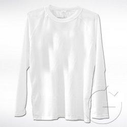 Biała koszulka z długim rękawem Lord. Rozmiar: M