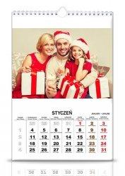 5 kalendarzy 13 stronicowych a3 z twoimi zdjęciami pion i poziom