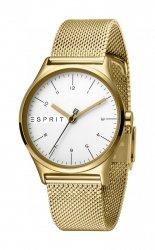 Damski zegarek Esprit ES Essential srebrny Gold Mesh - L ES1L034M0075