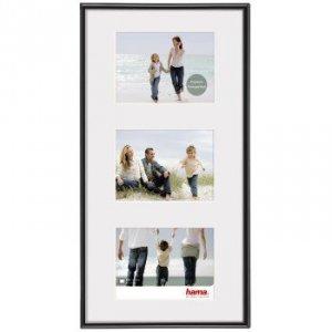 Ramka - Galeria 25x55/3 format 13x18 Madrid czarna - Hama