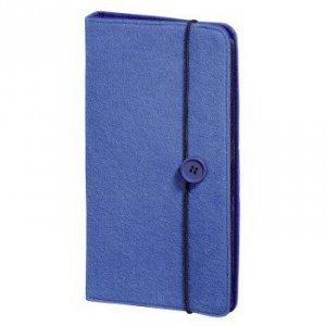 Cd wallet felt 48 cd, niebieski