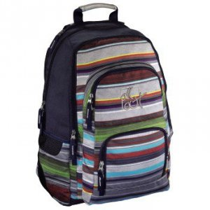 Plecak szkolny Louth Waterfall Stripes - All Out Hama