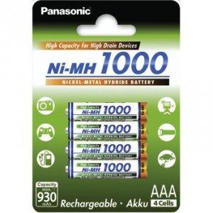 Akumulator panasonic ni-mh high capacity, rozmiar aaa, min. 930 mah 4szt.
