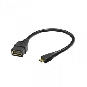 Kabel przejściowy USB-2.0 OTG Wtyk Micro-B - gniazdo A 15cm - Hama