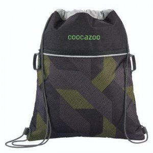 Worek na buty Rocket Pocket 2 Polygon Bricks Grey - Coocazoo