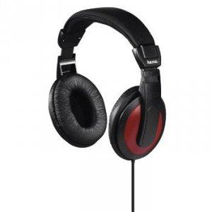 Słuchawki nauszne Basic4music czarno-czerwone - Hama