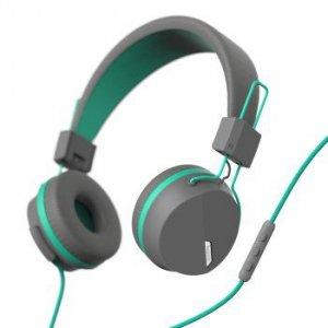 Słuchawki nauszne Next szaro-turkusowe - Hama
