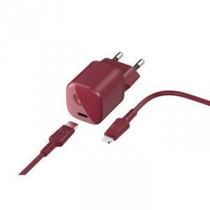 Fresh 'n rebel Ładowarka usb-c 18w + kabel lightning ruby red