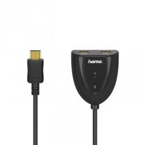 Rozdzielacz HDMI 2x1 - Hama