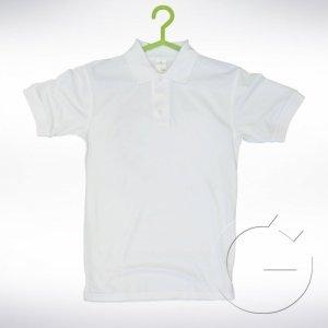Biała koszulka polo z krótkim rękawem Rozmiar: XS