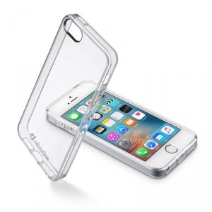 CELLULAR LINE Clear Duo Etui iPhone SE/5S/5 transparentne
