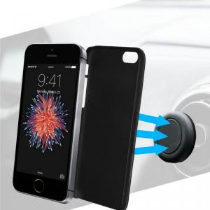 AZURI Etui + uchwyt sam. magnetyczny iPhone 5/5S/SE czarny