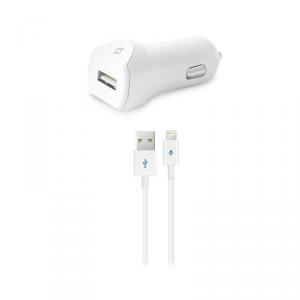 TTEC SpeedCharger Ładowarka samochodowa USB 2.1A kabel lightning
