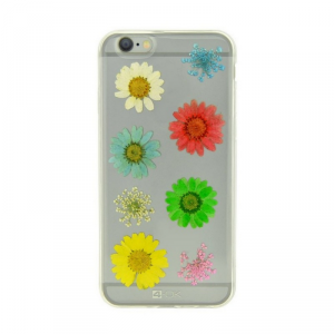 4OK Flower Etui iPhone 6/6S kolorowe stokrotki