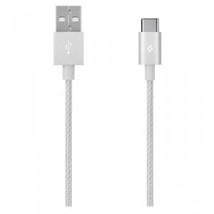 TTEC kabel aluminiowy USB-C 2.0 srebrny
