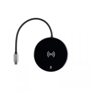 XTORM Adapter USB-C Hub 6-in-one z funkcją indukcyjnego ładowania szary