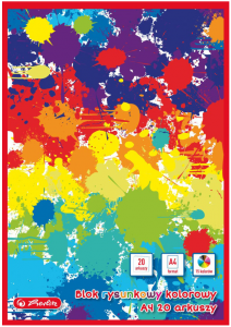 Blok rysunkowy A4 80g 20 kartek kolorowy - Herlitz