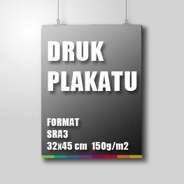 Druk plakatu SRA3 - 32x45cm 150g/m2
