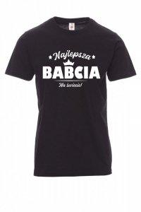 Koszulka z nadrukiem czarna - Najlepsza Babcia na Świecie