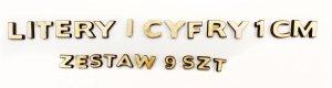 LITERY i CYFRY 1cm - stwórz dowolny napis -  DECOUPAGE SKLEJKA