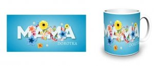 Biały kubek Mama kwiaty - Studioix.pl
