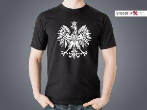 Koszulka czarna Orzeł - Studioix.pl