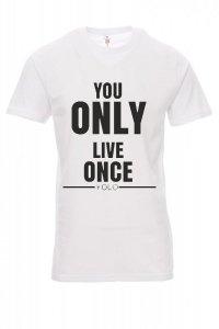 Koszulka biała - znakowanie - YOLO