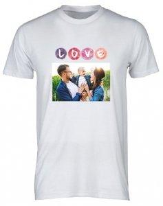 Biała, bawełniana koszulka t-shirt z twoim nadrukiem