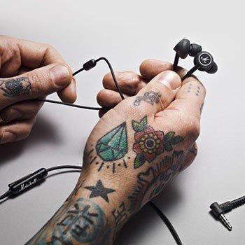 Słuchawki-douszne-Mode-czarno-białe-Marshall