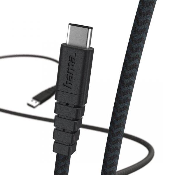 Kabel-ładujący-Data-Extreme-USB-Typ-C-1.5m-czarny-Hama